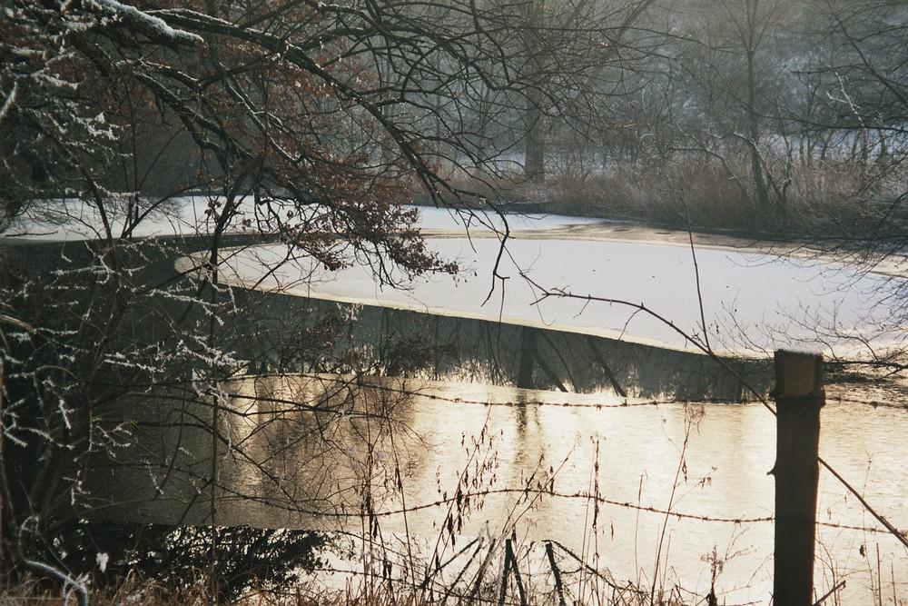 Spiegelweiher im Winter