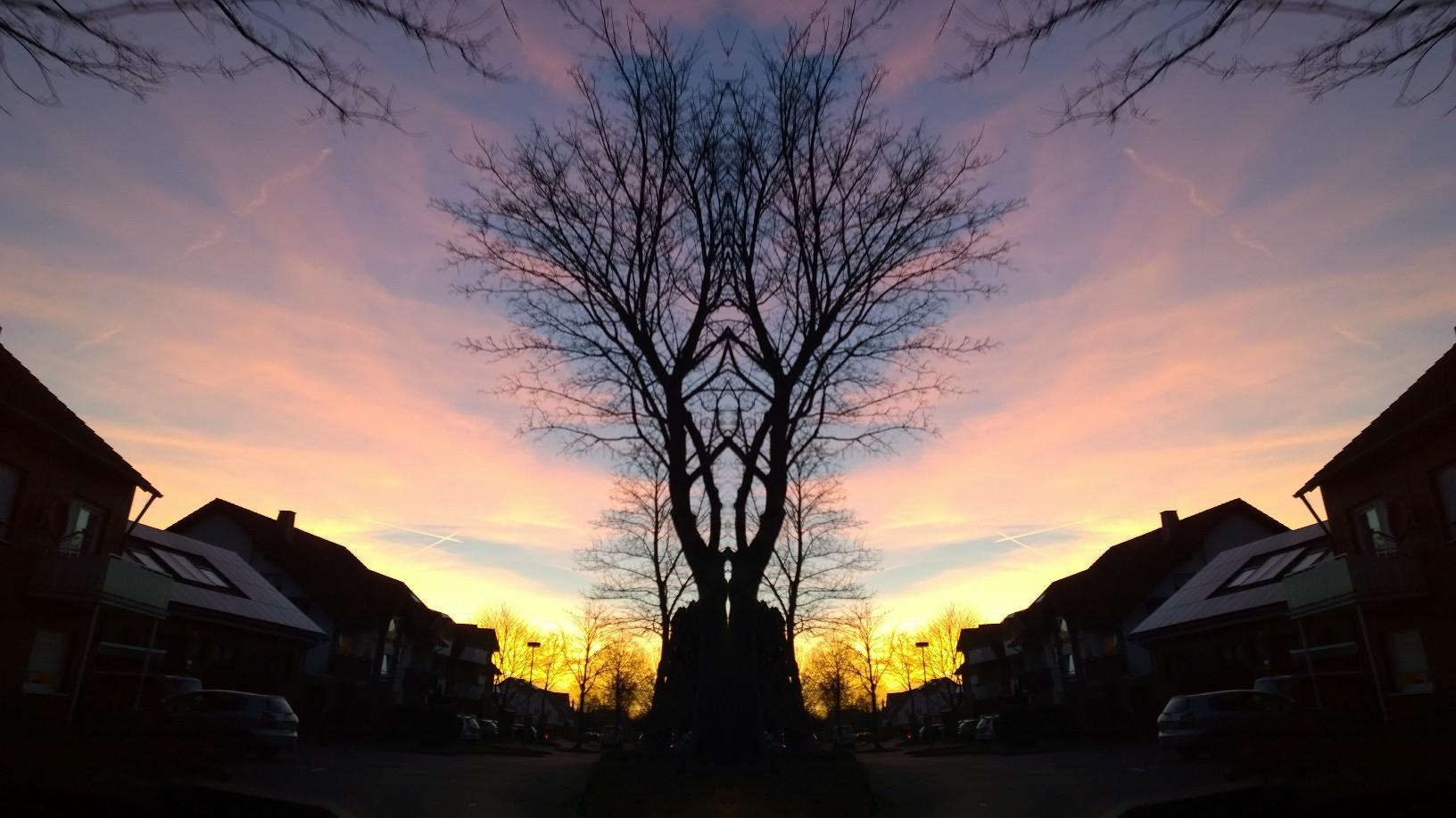 Spiegelwelt Sonnenuntergang