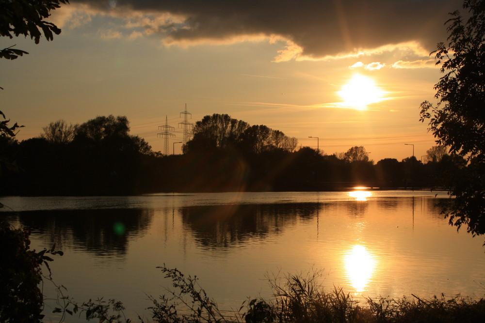 Spieglung des Sonnenuntergangs