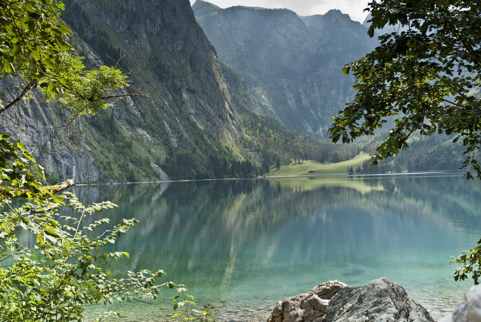 Spieglung im Obersee Königssee