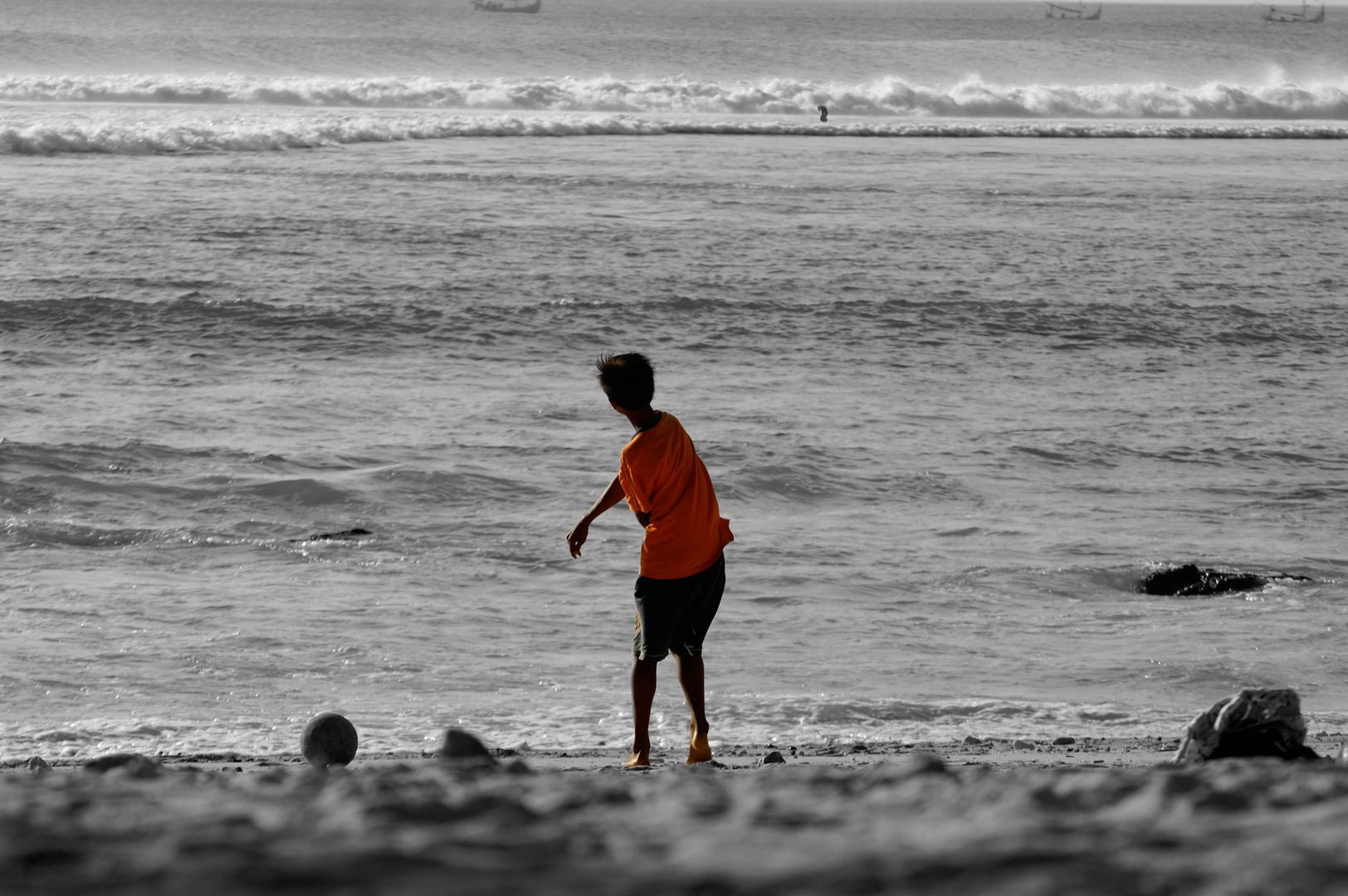 Spiel am Strand