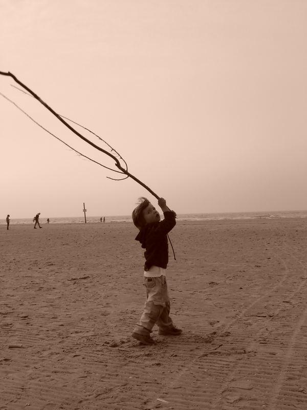 Spiel am Strand...