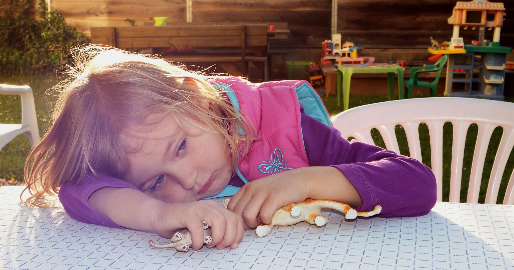 Spielen macht müde !