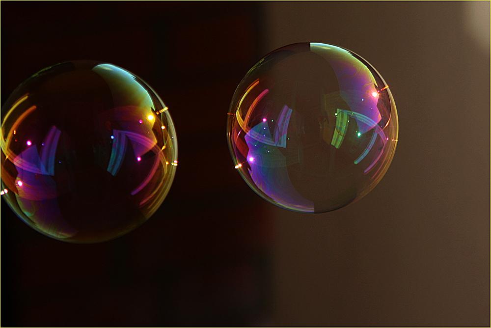 Spielerei mit den Seifenblasen