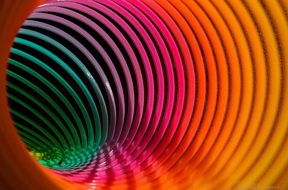 Spielerei mit einem Slinky