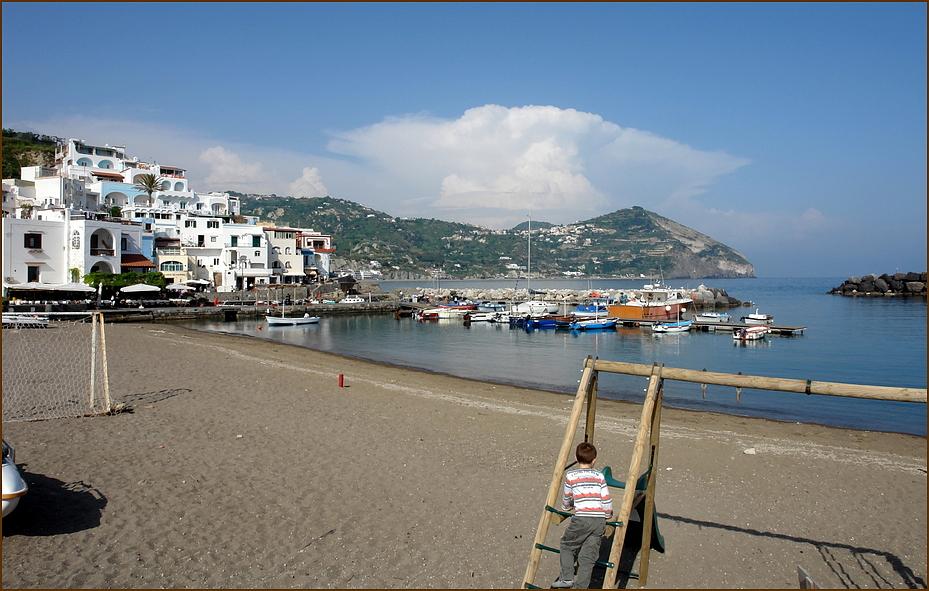 Spielplatz am Strand ....