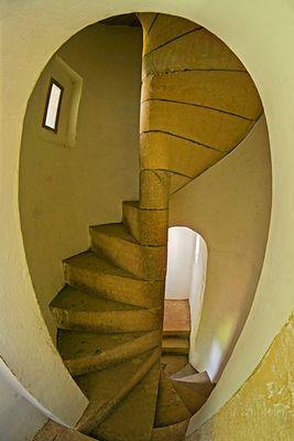 Spindeltreppen in Burg Grodziec