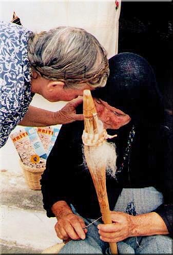 Spinnerin Kreta 1980