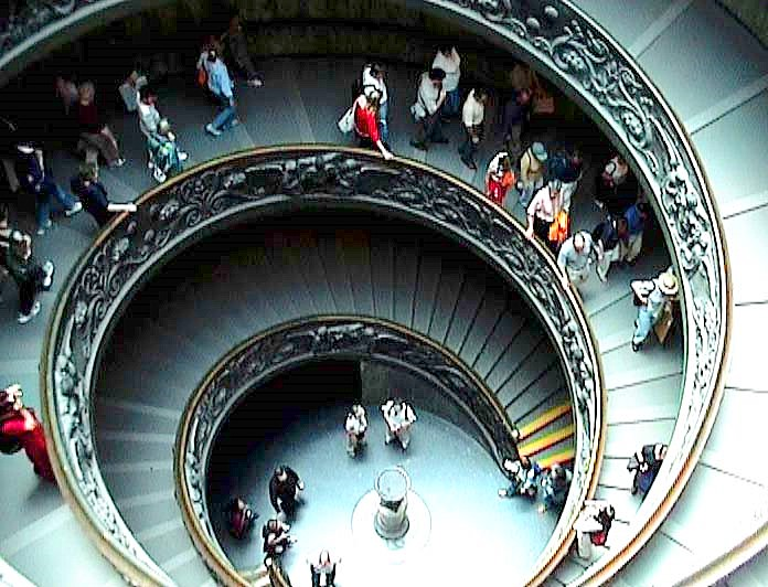 Spiral Staircase -- Exit of the Vatican Museums :.: Wendeltreppe, Ausgang der Vatikanischen Museen
