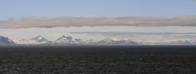 Spitzbergen Seeblick Gletscher