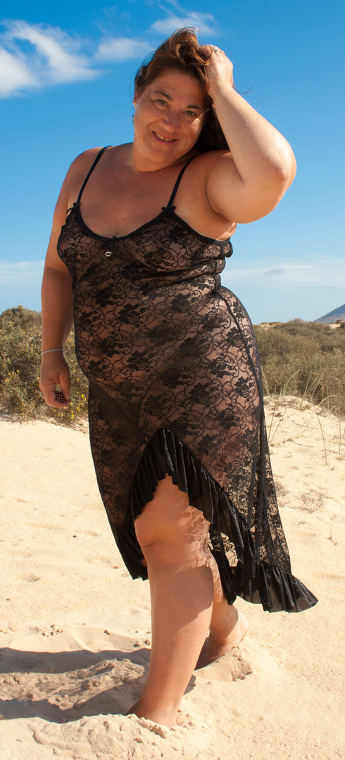Spitze im Sand - von vorn