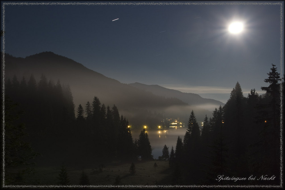 Spitzingsee bei Nacht