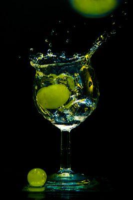splash dans un verre