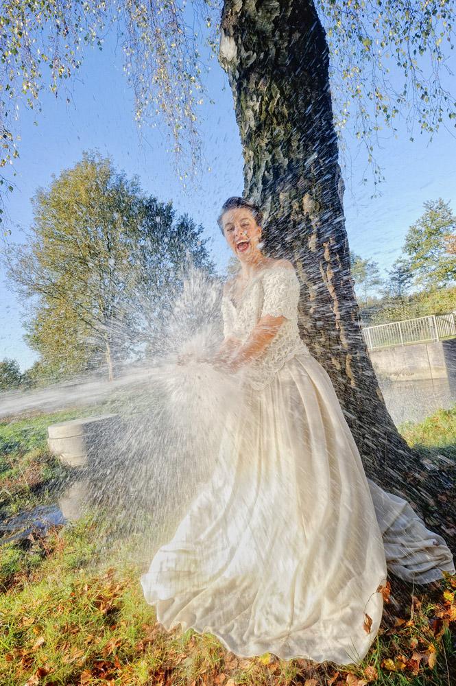 splash the dress!