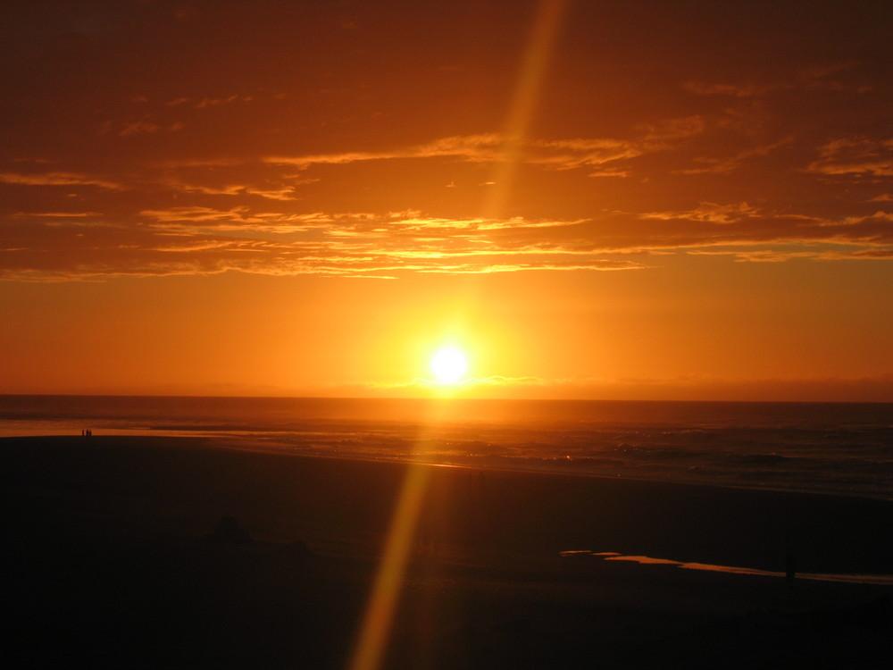 splendide coucher de soleil