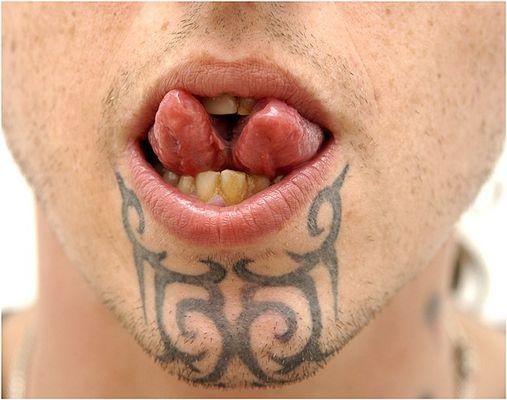 split tongue aufgeteilte Zunge