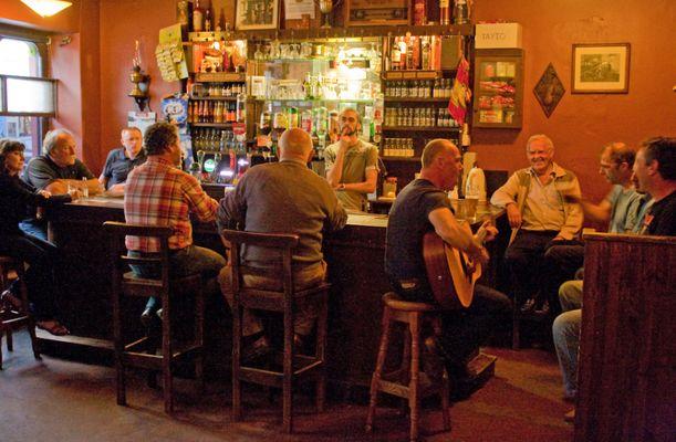 Spontaner Gig im Pub