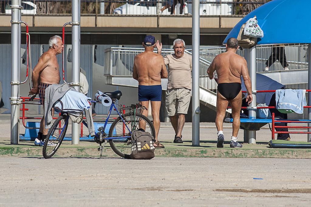 Sport am Strand von Barcelona