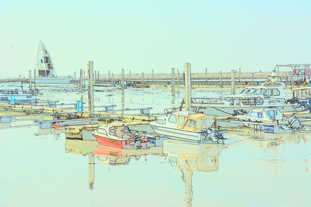 Sportboothafen auf Juist