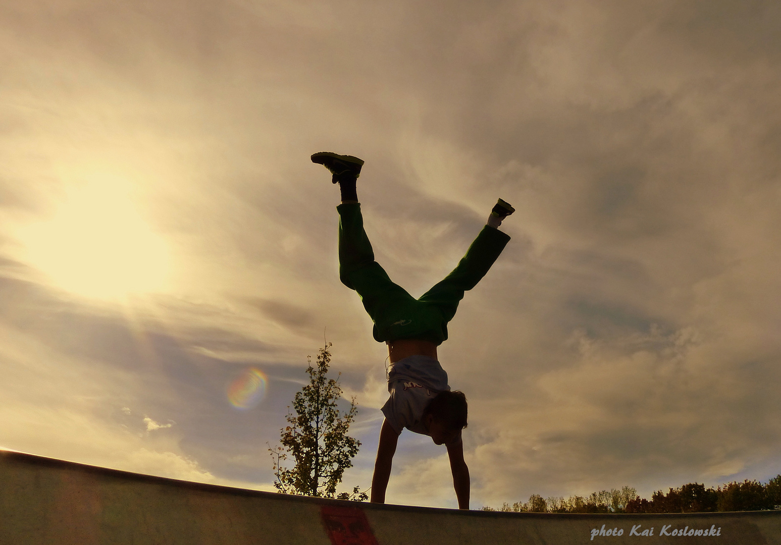 sportlich frei unterm Himmel