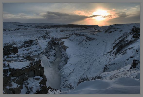 Spots of Ice - Gullfoss