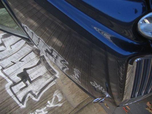 Sprayed Car