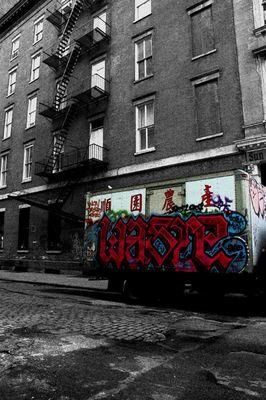 Sprayed Truck in Soho