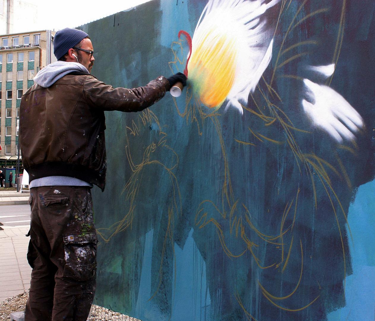 Sprayer bei der Arbeit (1)