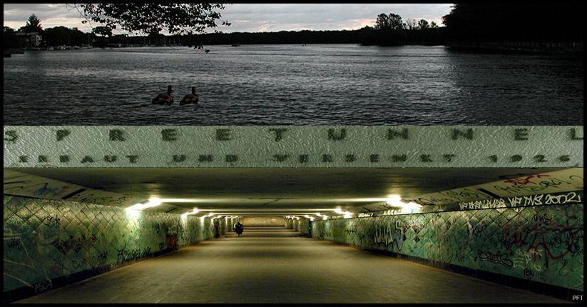 Spreetunnel bei Friedrichshagen in Berlin (Versuch einer Bearbeitung)