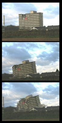 Sprengung CDU Haus in Bonn