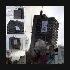 Sprengung Turmhotel Solingen, 18.12.2011