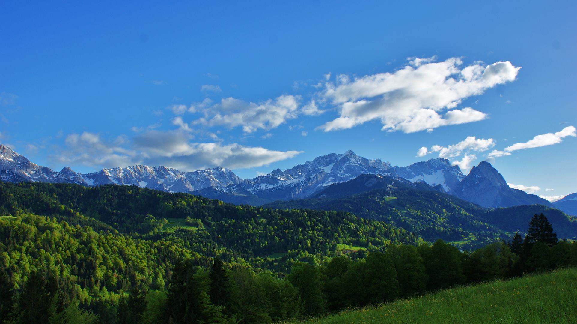 spring in the alps