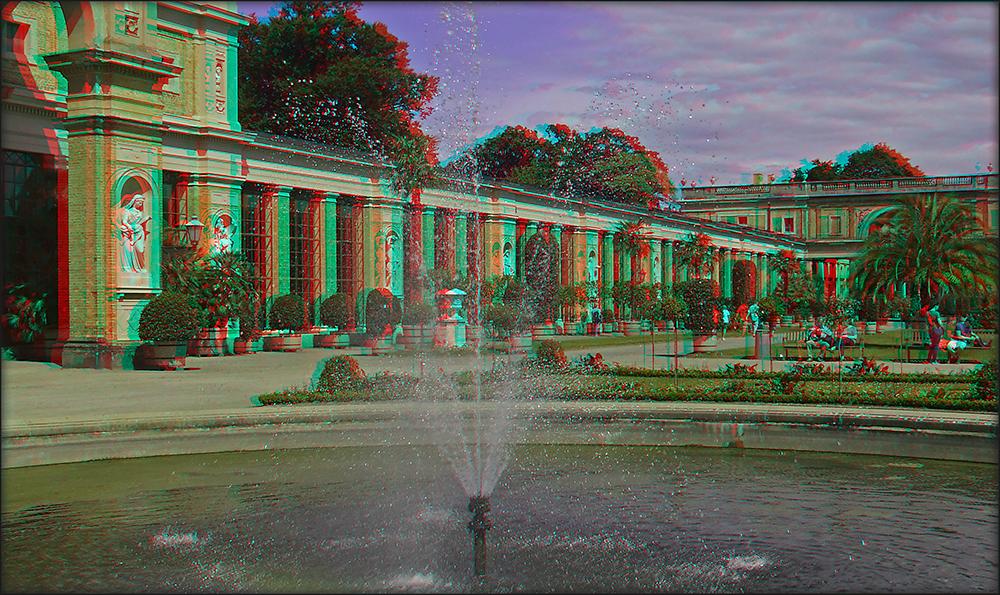 Springbrunnen an der Orangerie (3D)