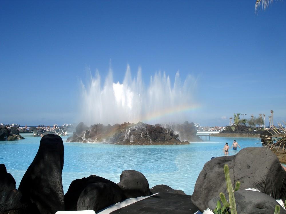Springbrunnen in Porto Cruz Teneriffa