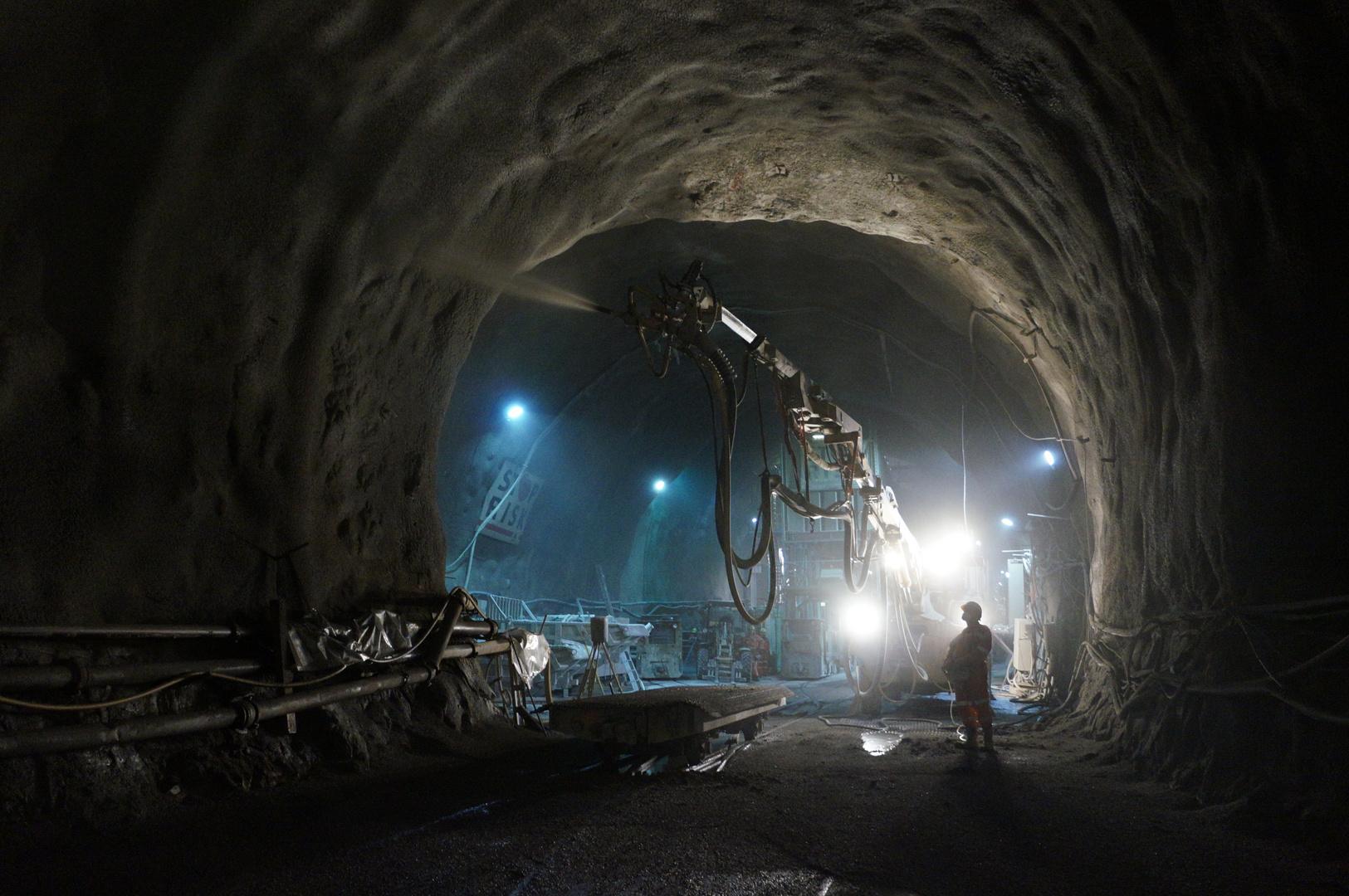 Spritzbeton für den Gotthard Basistunnel
