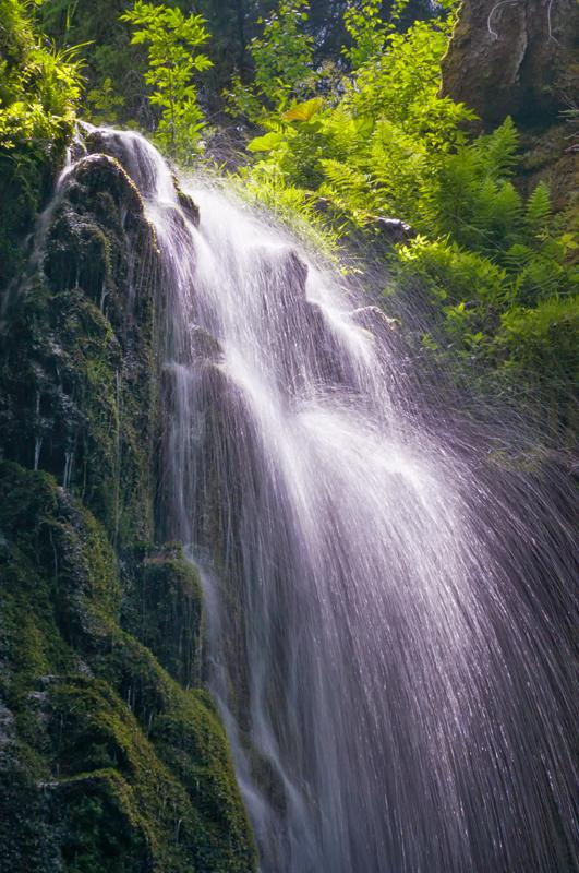 spritziger Burgbachwasserfall
