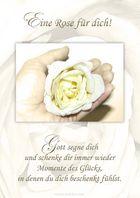 Spruchkarte / Eine Rose für dich mit Segenswunsch