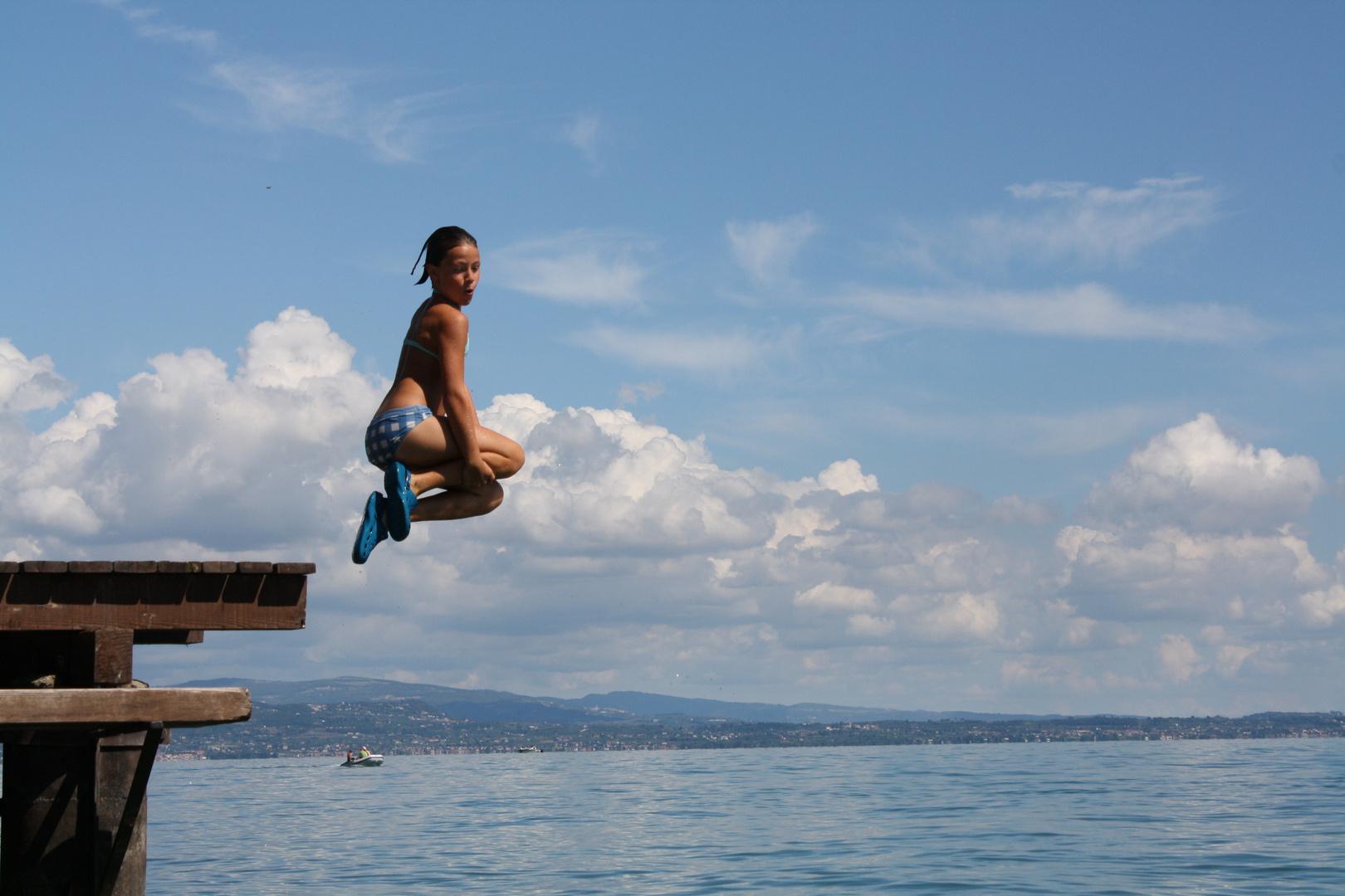 Sprung in die Luft