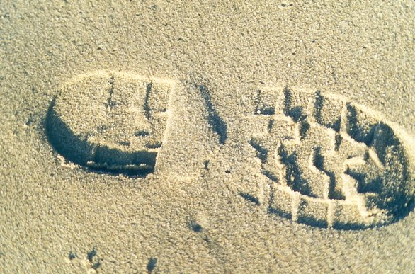 Spur im Sand