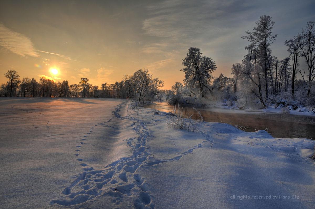 Spuren am Fluß