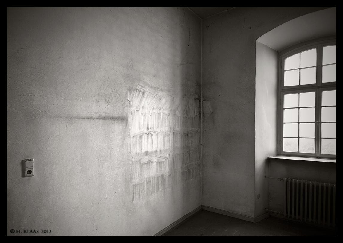 Spuren an der Wand