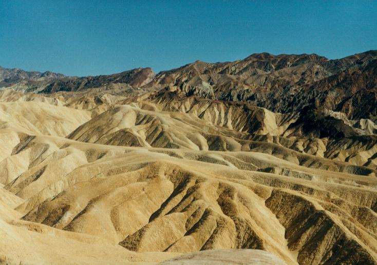Spuren der Zeit - Landschaftsformation im Death Valley