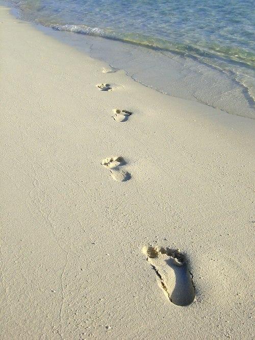 Spuren im Sand.....