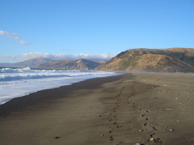 Spuren im Sand... Punta Gorda - Lost Coast