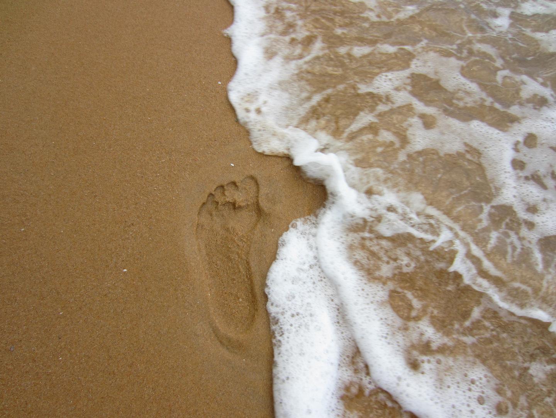 spuren in sand