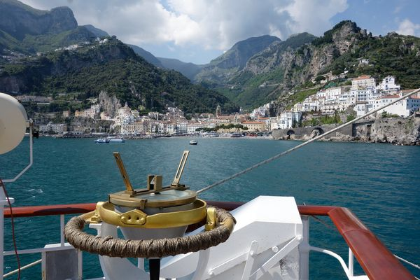 "SPV ""Royal Clipper"" Anlauf Amalfi"