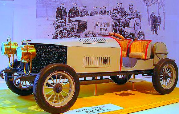 SPYKER Race Car 1903 first four wheel drive car