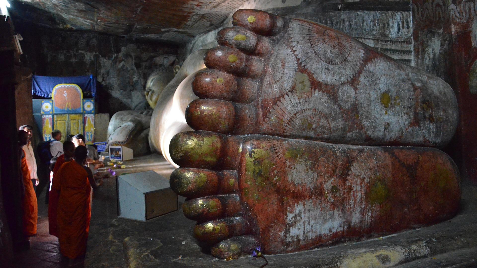 Sri Lanka - Die Füße von Buddha