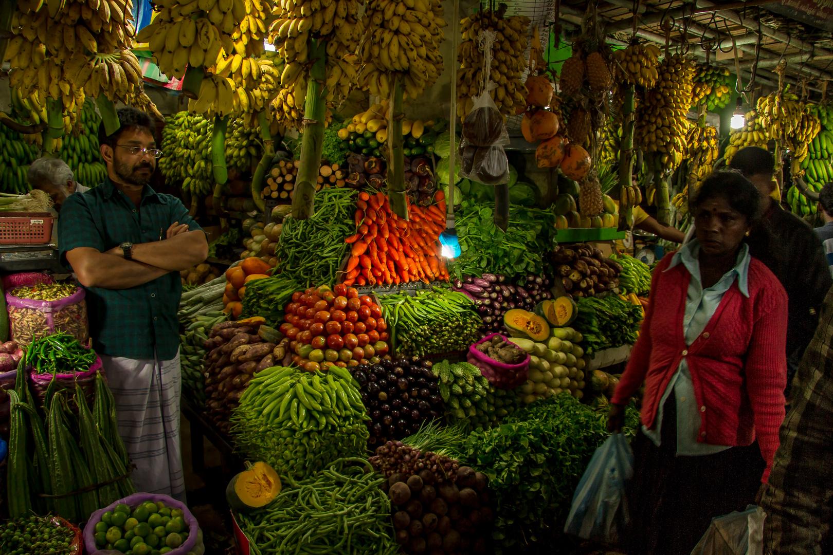 Sri Lanka, Hochland, Nurawa Eliva, Markthallen