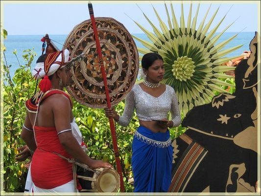 SriLanka - Vorbereitung einer Hochzeit